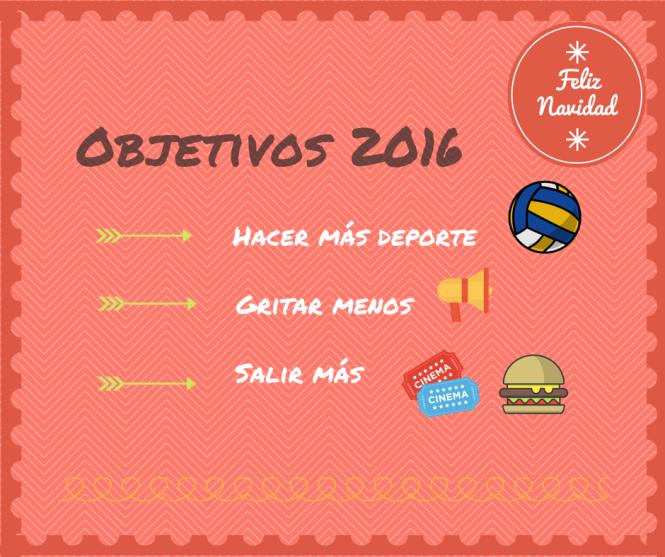Propósitos de año nuevos, objetivos para 2016